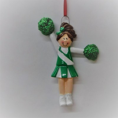 CHEERLEADER GIRL IN GREEN