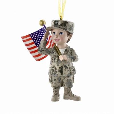 ARMY BOY WITH FLAG