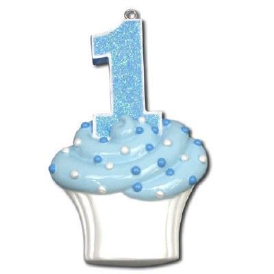 1ST BIRTHDAY BLUE CUPCAKE