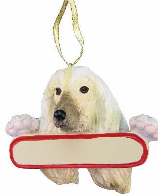 AFGAN DOG WITH NAME PLATE