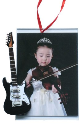 BLACK GUITAR PICTURE FRAME