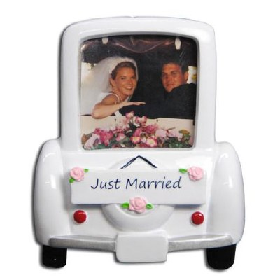 JUST MARRIED PICTURE FRAME