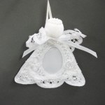 CLOTH LACE ANGEL PICTURE FRAME