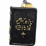 BLACK GLASS HOLY BIBLE