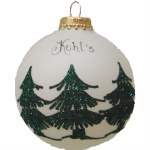 KOHLS TREE FARM GLASS BALL