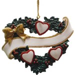 FAMILY OF 3 HEARTS IN A WREATH