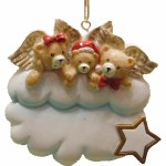 FAMILY OF 3 BEAR ANGELS ON COUD