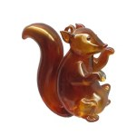 BROWN GLASS SQUIRREL