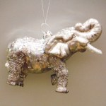 ELEPHANT WITH GLITTER GLASS