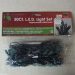 50 COUNT LED BLUE LIGHT SET