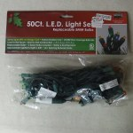 50 COUNT LED RED & GREEN LIGHT SET