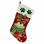 RED STOCKING PAW PRINTS AND DO