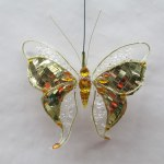 GOLD CLIP ON BUTTERFLY