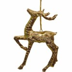 GOLD DEER ORNAMENT