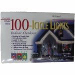 100 COUNT CLEAR ICICLE LIGHTS
