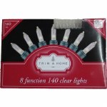 140 COUNT CLEAR 8 FUNCTION LIGHT SET