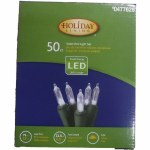 50 CT SOLAR LED MINI LIGHT SET CLEAR