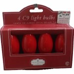 4 PK C9 REPLACEMENT BULBS RED