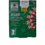 20 CT LED CANDY CANDLE LIGHT SET BATTERY OPERATED