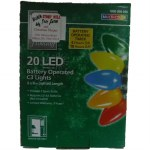 20 CT LED C3 LIGHT SET BATTERY OPERATED