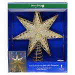 12 INCH GOLD STAR TREE TOP