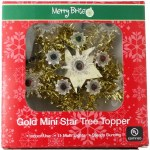 GOLD MINI STAR TREE TOPPER