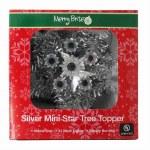 SILVER MINI STAR TREE TOPPER