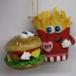 BEST FRIENDS HAMBURGER AND FRENCH FRIES