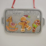 "COOKIE TRAY WITH ""HAPPY HOLIDAY"""