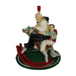 MAN ON ROCKING HORSE