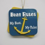 BOAT RULES PLAQUE