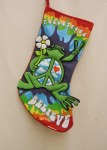 PEACE FROG STOCKING
