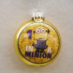 1 IN A MINION GLASS DISC