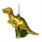GREEN GLASS DINOSAUR