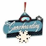 SNOWBOARDING PLAQUE