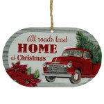 ALL ROADS LEAD HOME METAL SIGN