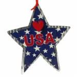 BLUE USA FLAG STAR