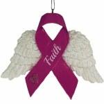 FAITH PINK RIBBON ANGEL WINGS