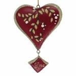 LOVE RED GLITTER HEARTS