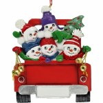 FAMILY OF 5 IN RED TRUCK