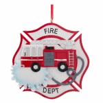 FIRE DEPTARTMENT BADGE AND TRUCK
