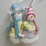 NEW MOMMY AND DADDY SNOWMEN