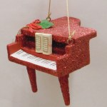 PIANO RED WITH MUSIC SHEET