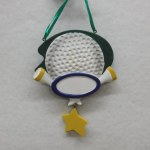 GOLF BALL WITH TEE'S AND STAR DANGLE