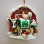 4H COW WITH BARN