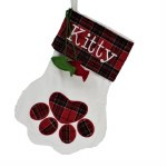 KITTY PAW PRINT STOCKING