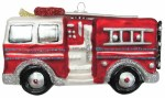 FIRETRUCK RED AND SILVER GLASS