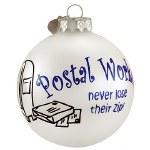 POSTAL WORKER GLASS BALL