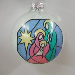 HOLY FAMILY GLASS BALL