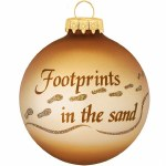FOOTPRINTS IN THE SAND GLASS BALL